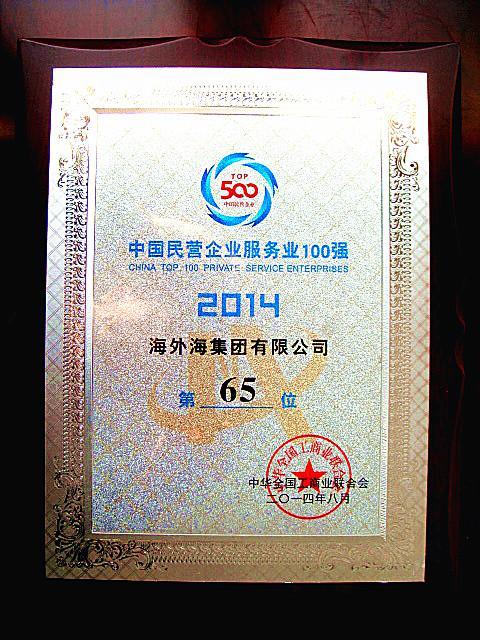 中国民营企业服务业100强