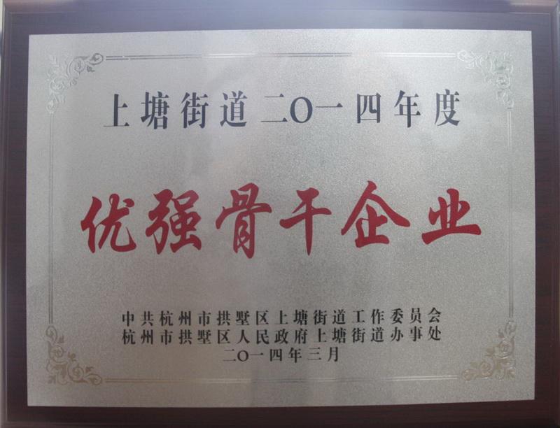 上塘街道2014年度优秀骨干企业